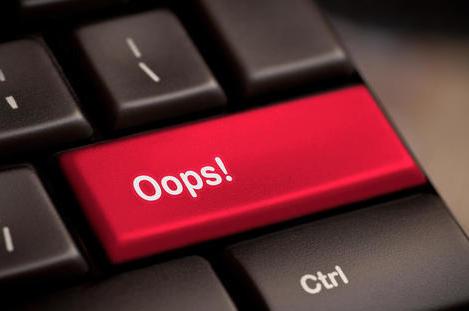 oops keyboard button